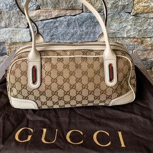 Authentic GG Canvas Gucci Shoulder Bag